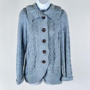Sigrid Olsen retro cardigan sweater size small